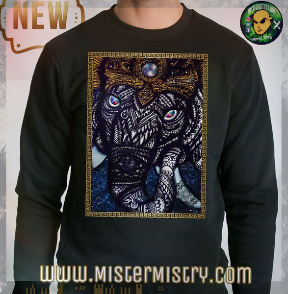 GANESH BLACK SWEAT SHIRT JUMPER