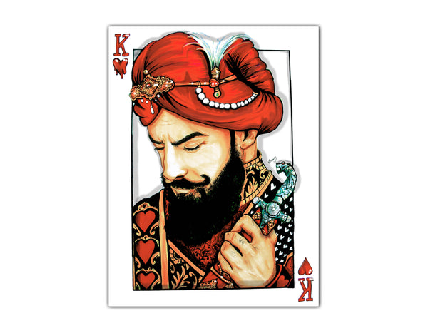 RAAJA OF HEARTS CANVAS PRINT