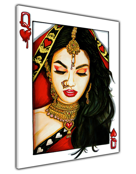 RANI OF HEARTS CANVAS PRINT