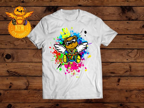 BIG POPPA BEAR BANISHED ANGELS T- SHIRT