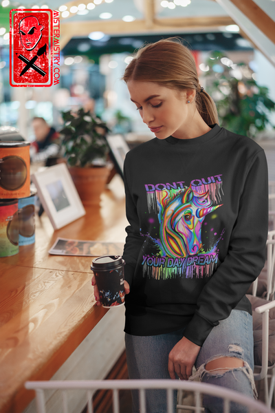 UNICORN/ DONT QUIT YOUR DAY DREAM/ BLACK JUMPER