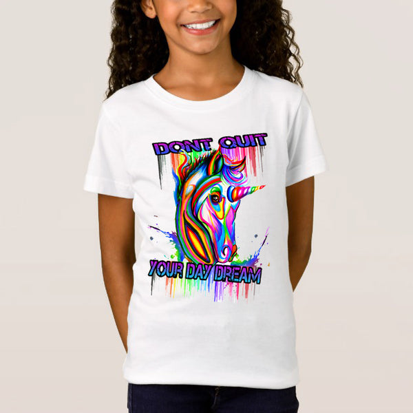 UNICORN: DONT QUIT YOUR DAY DREAM KIDS T-SHIRT