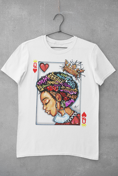 AFRO QUEEN OF HEARTS T-SHIRT