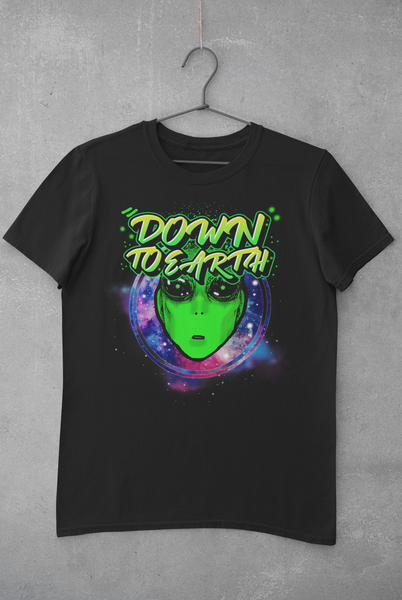 ALIEN/DOWN TO EARTH T-SHIRT