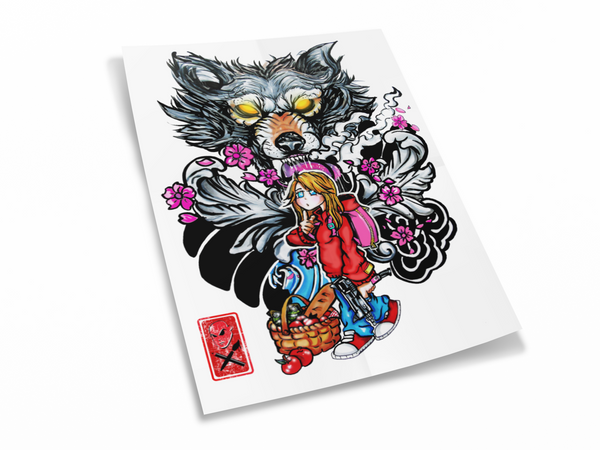 LITTLE RED RIDING HOOD POSTER PRINT