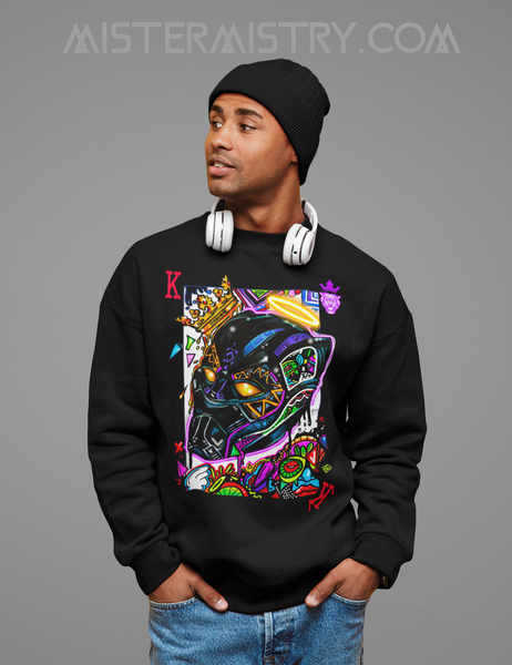LONG LIVE THE KING / BLACK PANATHER BLACK JUMPER