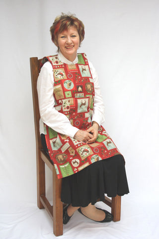 Dining drApron® - Christmas Patchwork Pattern