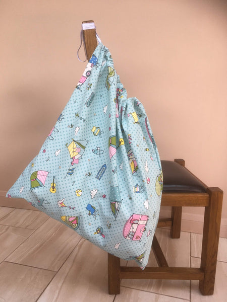 Large drawstring washbag for uniforms to avoid infection from Covid etc Camping design