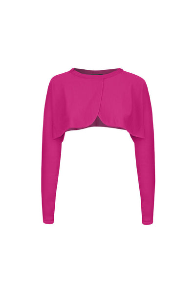 Fuchsia Superfine merino sleeves - short in length (Like a bolero) means it is better than bed jacket Long sleeved Also available in black and turquoise