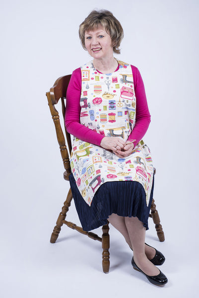 Sewing Accessories design Dining Drapron / clothing protector. So much better than an adult bib