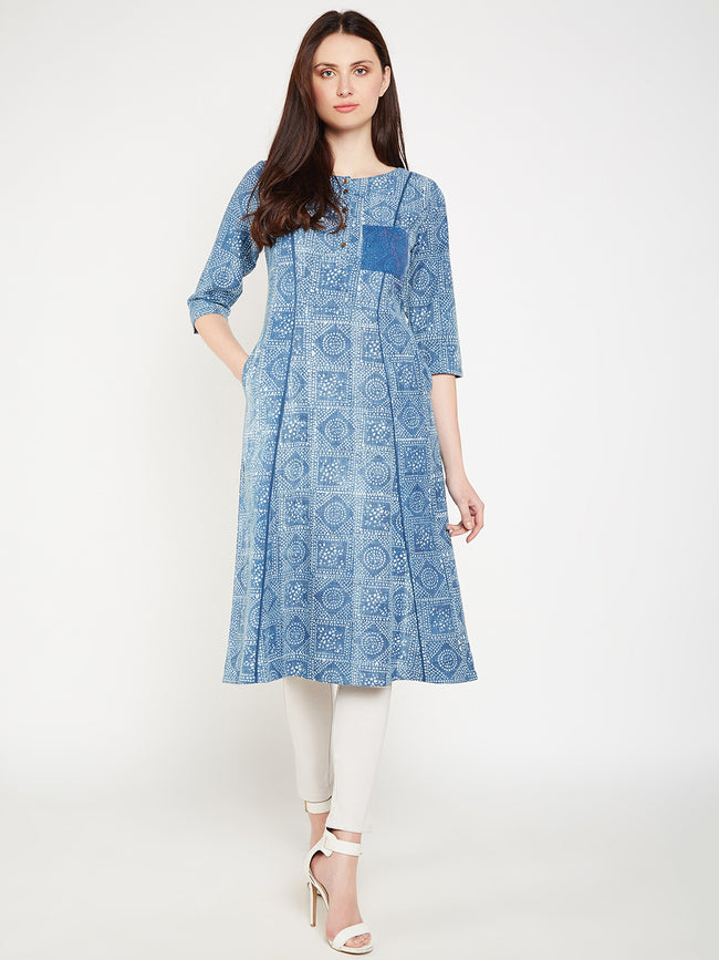 Lyla Woman front pocket kurta