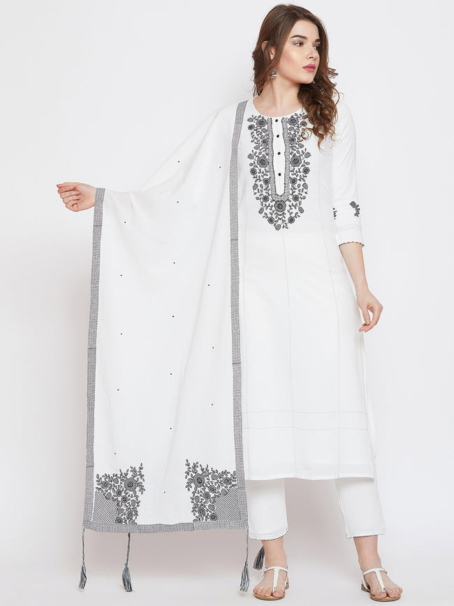 LYLA WOMAN EMBROIDERED DUPATTA