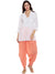 Peach Flared Dhoti Pant
