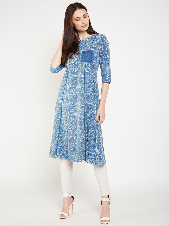 Lyla Women front pocket kurta