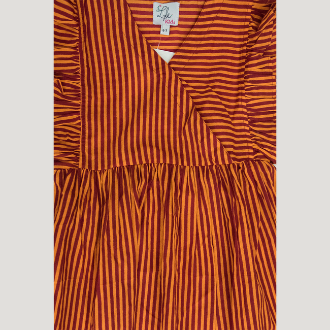 ORANGE ASSYMETRIC HEM DRESS