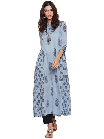 COTTON KURTA WITH SIDE GATHERS