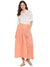 Peach Flared Cotton Palazzos