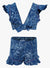 LYLA KIDS BLOCK PRINTED SHORTS AND TOP SET