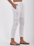 LYLA WOMAN STRAIGHT PANT WITH CHIKANKARI WORK