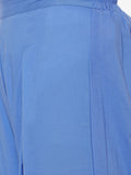 Powder Blue Flared Cotton Palazzos