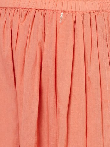 Peach skirt top set with gota work