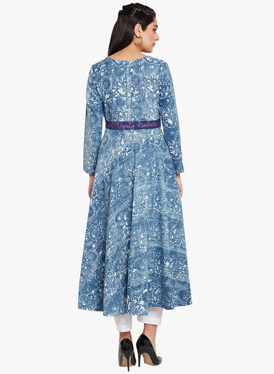 Lyla Women waist cut dabu anarkali