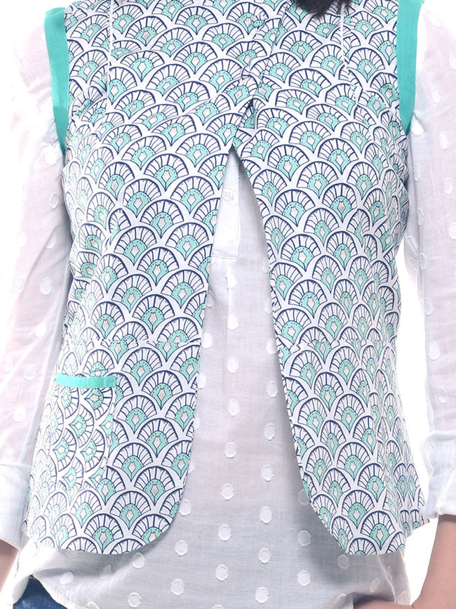 Printed cotton waist coat