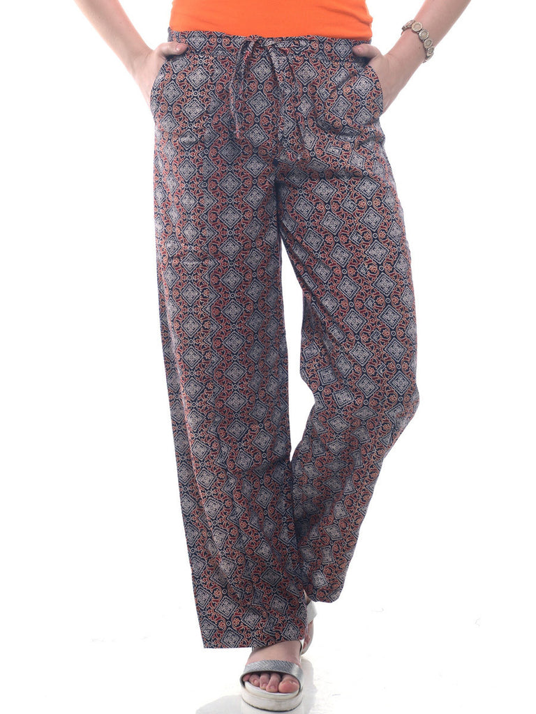 Block printed pants
