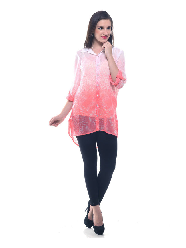 Two toned Georgette shirt