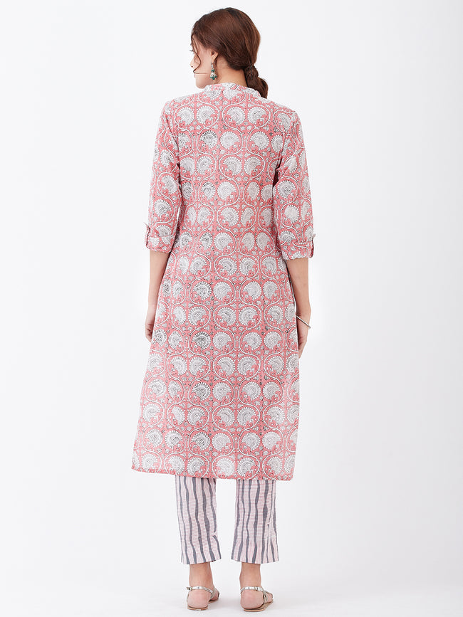 LYLA WOMAN BLOCK PRINTED KURTA PANT SET