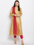 Gold Anarkali Kurta with Contrast Dupatta