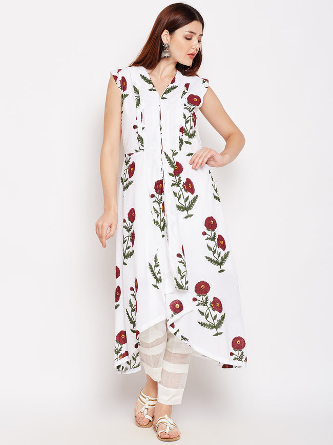 Lyla Sleevless Cotton Kurta