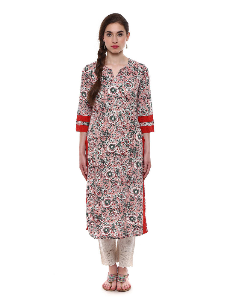 Lyla Multi Printed Cotton Mulmul Kurti