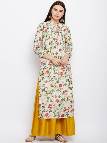 FLORAL PLEATED ANARKALI KURTA
