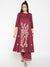 Lyla Women Embroidered Kali Kurta