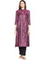 WINE SILK KURTA WITH TASSEL AND STITCH LINE WORK