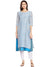 Powder Blue Chanderi Layered Kurta