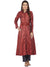 MAROON SILK KURTA WITH TASSEL AND STITCH LINE WORK