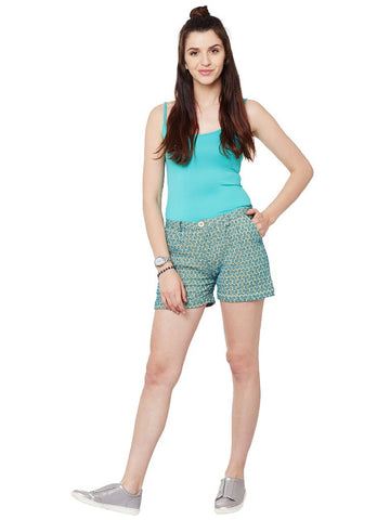 Blue-&-yellow-schiffli-shorts