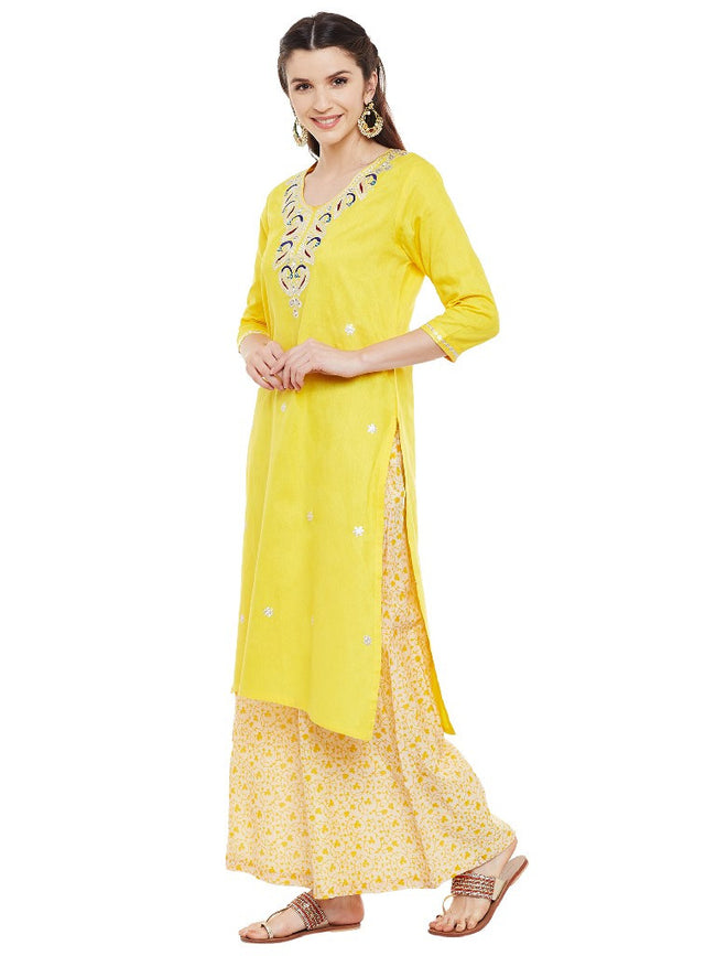 yellow-kurta-with-pitan-work