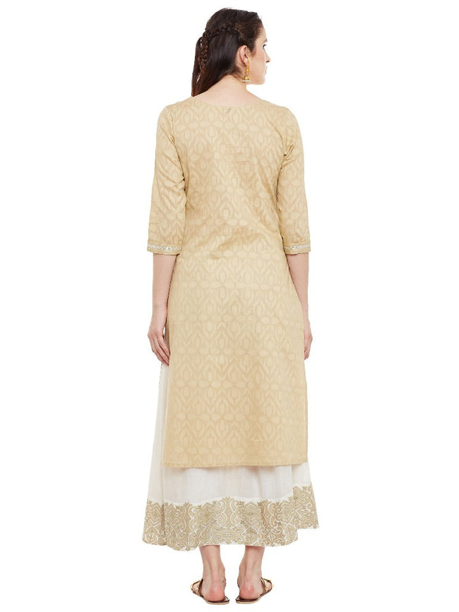 Beige-kurta-with-pittan-work