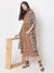 Mustard block printed kantha dress with grey jacket