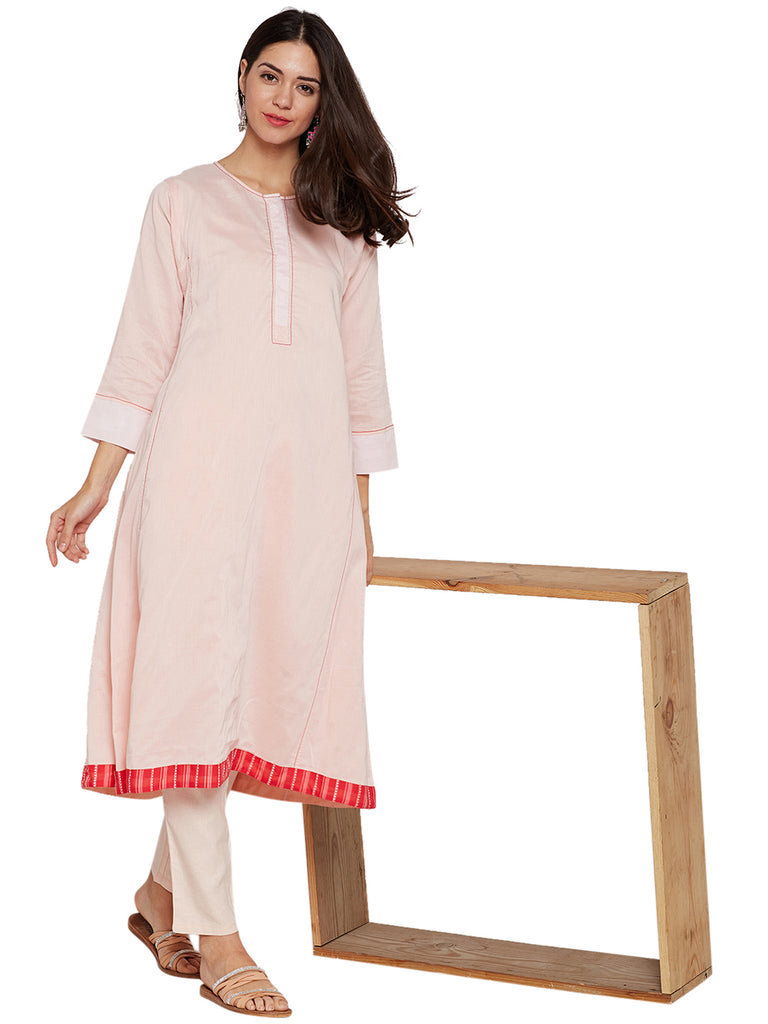 Cotton Fared Kurta