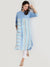 Blue linen shirt kurta