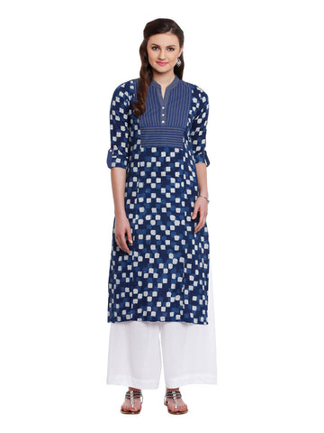 Lyla Indigo Kurta and Pallazo Set
