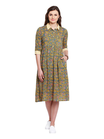 Mulmul Block Print Dress