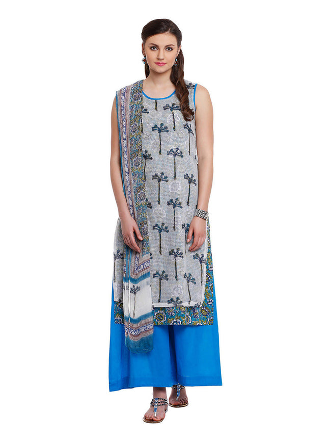 Lyla Kota Block Print Suit with Pallazo