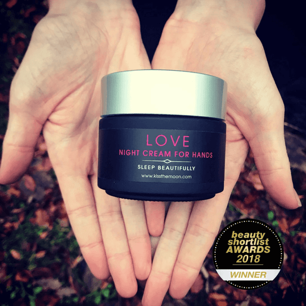 kiss the moon night cream for hands to help dermatitis hand