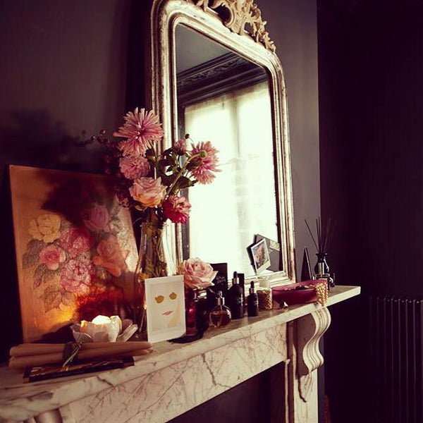 mirror mantlepiece ready for rearranging