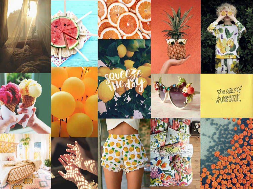 Our July Inspiration Board – Zest for Life